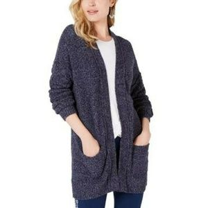 Style&Co Small Blue Open Front Cardigan 4Z62
